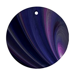 A Pruple Sweeping Fractal Pattern Round Ornament (two Sides)