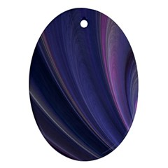 A Pruple Sweeping Fractal Pattern Oval Ornament (Two Sides)