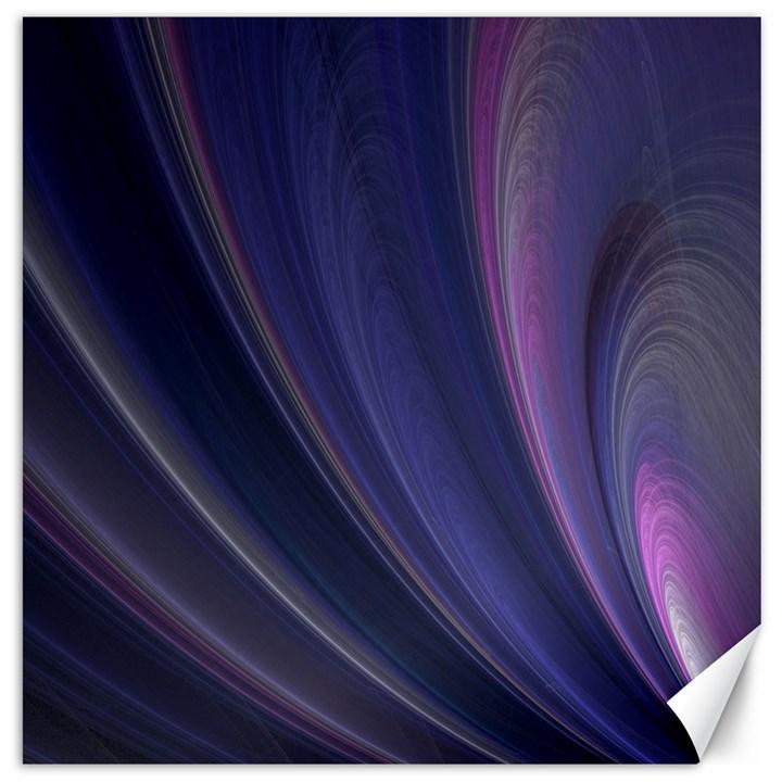A Pruple Sweeping Fractal Pattern Canvas 16  x 16