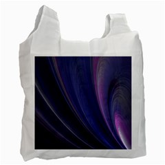 A Pruple Sweeping Fractal Pattern Recycle Bag (one Side)