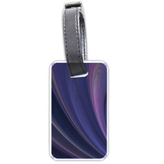 A Pruple Sweeping Fractal Pattern Luggage Tags (one Side)