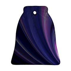 A Pruple Sweeping Fractal Pattern Bell Ornament (two Sides)