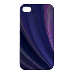 A Pruple Sweeping Fractal Pattern Apple Iphone 4/4s Hardshell Case
