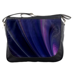 A Pruple Sweeping Fractal Pattern Messenger Bags