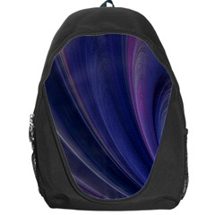 A Pruple Sweeping Fractal Pattern Backpack Bag