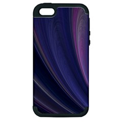 A Pruple Sweeping Fractal Pattern Apple iPhone 5 Hardshell Case (PC+Silicone)