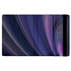 A Pruple Sweeping Fractal Pattern Apple iPad 2 Flip Case