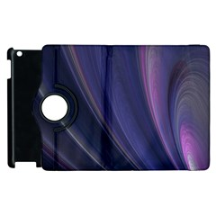 A Pruple Sweeping Fractal Pattern Apple iPad 2 Flip 360 Case