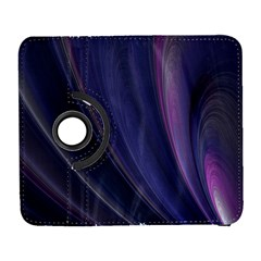 A Pruple Sweeping Fractal Pattern Galaxy S3 (Flip/Folio)