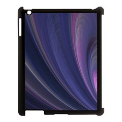 A Pruple Sweeping Fractal Pattern Apple iPad 3/4 Case (Black)