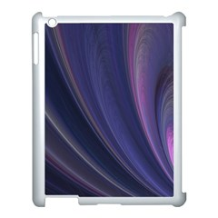 A Pruple Sweeping Fractal Pattern Apple iPad 3/4 Case (White)