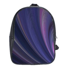 A Pruple Sweeping Fractal Pattern School Bags (XL)