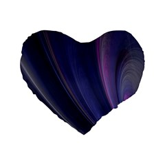 A Pruple Sweeping Fractal Pattern Standard 16  Premium Heart Shape Cushions