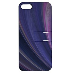 A Pruple Sweeping Fractal Pattern Apple iPhone 5 Hardshell Case with Stand