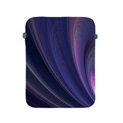 A Pruple Sweeping Fractal Pattern Apple iPad 2/3/4 Protective Soft Cases