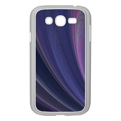 A Pruple Sweeping Fractal Pattern Samsung Galaxy Grand DUOS I9082 Case (White)