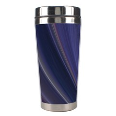 A Pruple Sweeping Fractal Pattern Stainless Steel Travel Tumblers