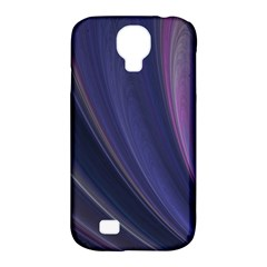 A Pruple Sweeping Fractal Pattern Samsung Galaxy S4 Classic Hardshell Case (PC+Silicone)