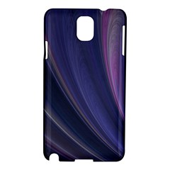 A Pruple Sweeping Fractal Pattern Samsung Galaxy Note 3 N9005 Hardshell Case