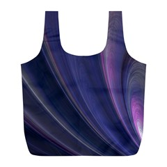 A Pruple Sweeping Fractal Pattern Full Print Recycle Bags (l)