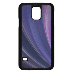 A Pruple Sweeping Fractal Pattern Samsung Galaxy S5 Case (black)