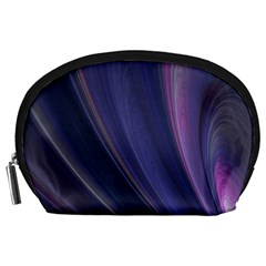 A Pruple Sweeping Fractal Pattern Accessory Pouches (Large)