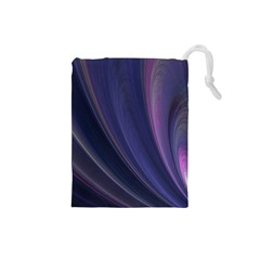A Pruple Sweeping Fractal Pattern Drawstring Pouches (Small)
