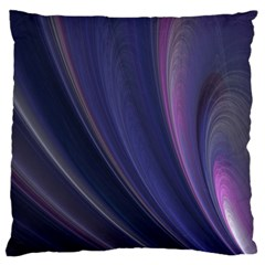 A Pruple Sweeping Fractal Pattern Standard Flano Cushion Case (One Side)