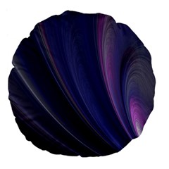 A Pruple Sweeping Fractal Pattern Large 18  Premium Flano Round Cushions