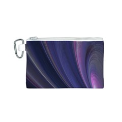 A Pruple Sweeping Fractal Pattern Canvas Cosmetic Bag (s)