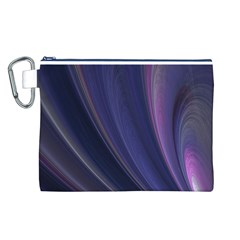A Pruple Sweeping Fractal Pattern Canvas Cosmetic Bag (L)