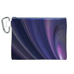 A Pruple Sweeping Fractal Pattern Canvas Cosmetic Bag (XL)