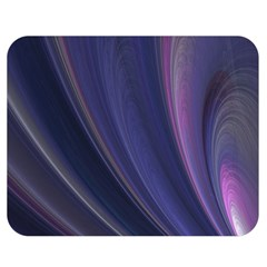 A Pruple Sweeping Fractal Pattern Double Sided Flano Blanket (medium)