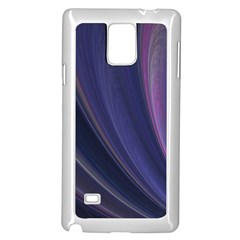 A Pruple Sweeping Fractal Pattern Samsung Galaxy Note 4 Case (White)