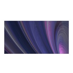 A Pruple Sweeping Fractal Pattern Satin Wrap