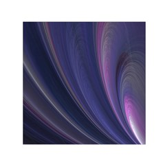 A Pruple Sweeping Fractal Pattern Small Satin Scarf (Square)