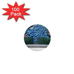 Mural Wall Located Street Georgia Usa 1  Mini Buttons (100 Pack)