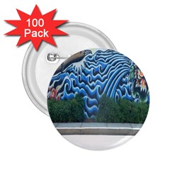Mural Wall Located Street Georgia Usa 2.25  Buttons (100 pack)