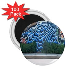 Mural Wall Located Street Georgia Usa 2 25  Magnets (100 Pack)