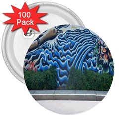 Mural Wall Located Street Georgia Usa 3  Buttons (100 pack)