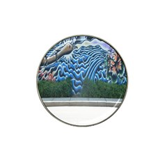 Mural Wall Located Street Georgia Usa Hat Clip Ball Marker (10 pack)
