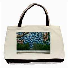 Mural Wall Located Street Georgia Usa Basic Tote Bag