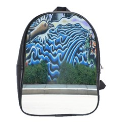 Mural Wall Located Street Georgia Usa School Bags(large)