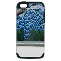 Mural Wall Located Street Georgia Usa Apple Iphone 5 Hardshell Case (pc+silicone)