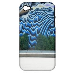 Mural Wall Located Street Georgia Usa Apple iPhone 4/4S Hardshell Case (PC+Silicone)