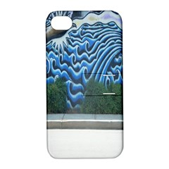 Mural Wall Located Street Georgia Usa Apple iPhone 4/4S Hardshell Case with Stand