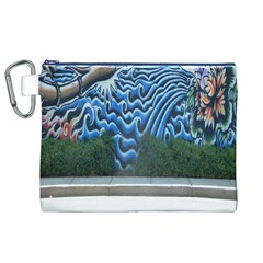 Mural Wall Located Street Georgia Usa Canvas Cosmetic Bag (XL)