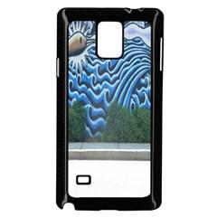 Mural Wall Located Street Georgia Usa Samsung Galaxy Note 4 Case (Black)