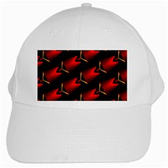 Fractal Background Red And Black White Cap