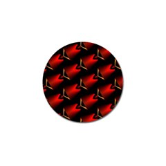 Fractal Background Red And Black Golf Ball Marker (4 Pack)